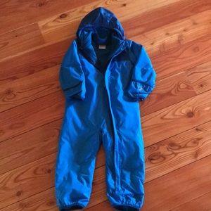 Columbia fleece-lined snowsuit